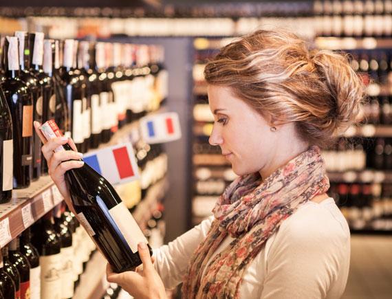 bonne bouteille de vin